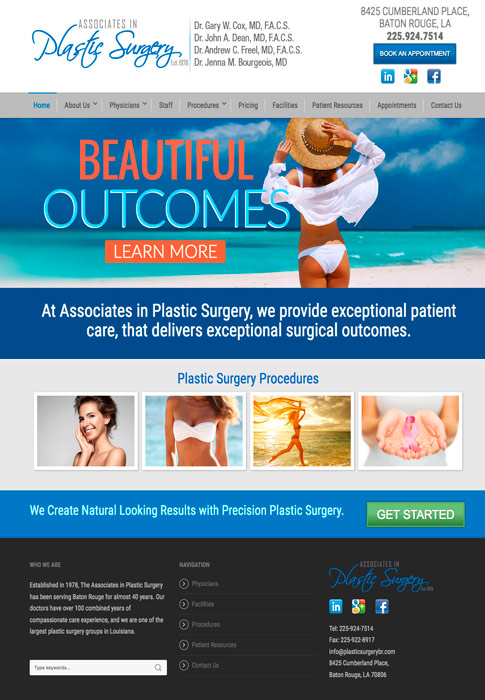 Plastic Surgery Website
