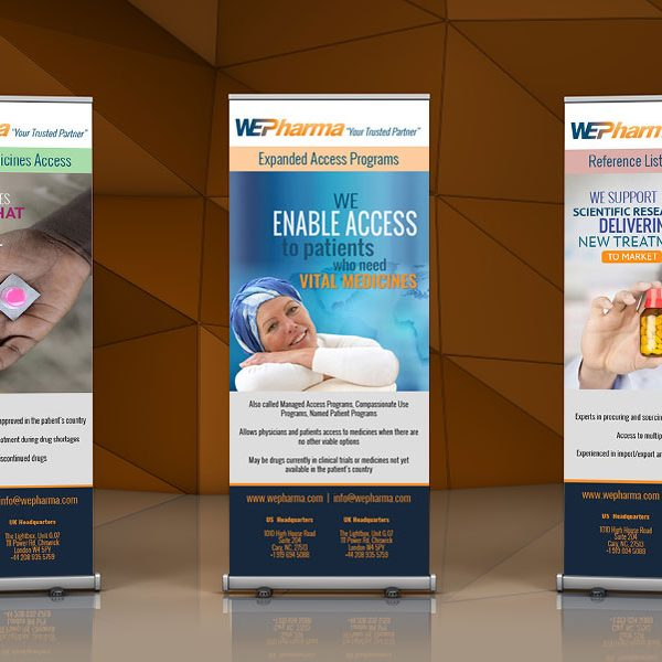 WEPharma Trade Show Pop Ups
